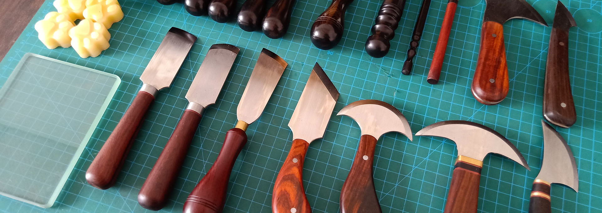 Leather knives