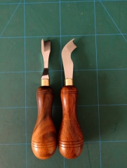 KL rosewood handle shoes bottom edge skiver