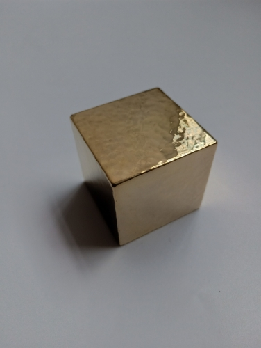 Square solid brass weight