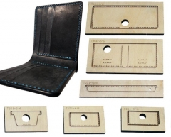 Leather wallet die